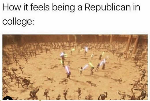 how it feels to be a republican in college jedi attack of the clones