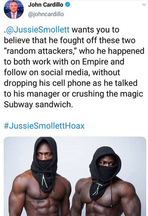 jussie smollett found off random attackers on empire talking to manager crushing subway sandwich