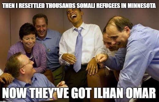 obama jarrett settled 1000s somalians in minnesotra theyve got ilhan omar