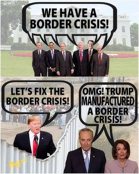 six presidents we have border crisis trump lets fix pelosi schumer manufactured