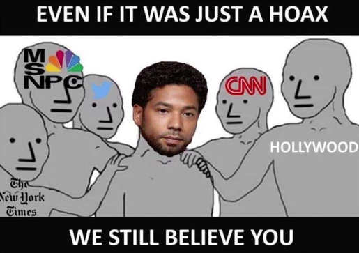 smollett even if just hoax we believe you msnbc cnn hollywood nyt