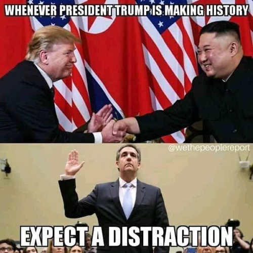 trump making history in korea need a distraction cohen