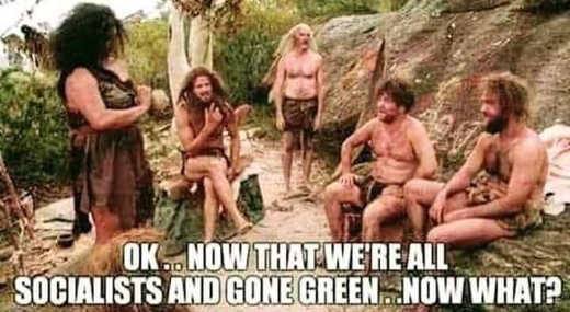 cavemen ok were socialists and gone green now what