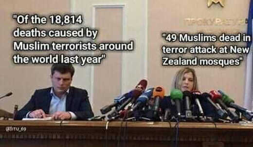 comparison 18000 muslim terrorist actions 1 christian microphones