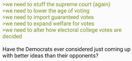 democrats pack supreme court change age voting rid electoral college how about better ideas