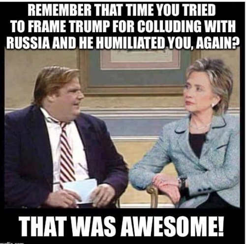 farley remember time you tried to frame trump russia and he humiliated you again hillary