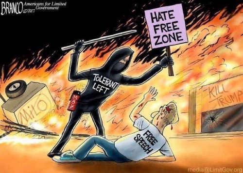 hate free zone liberals beating free speech