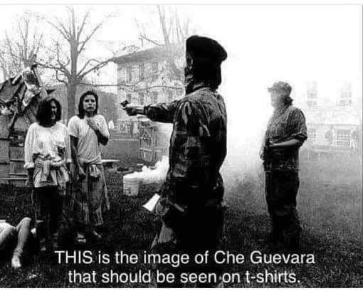 this is the image of che guevara that should be seen on tshirts shooting girls