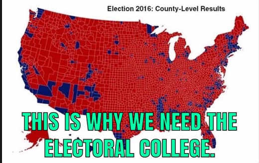 this is why electoral college is needed almost all red