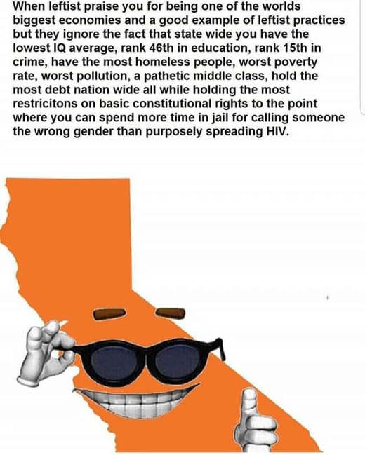 when leftists praise california worst education poverty homeless pollution