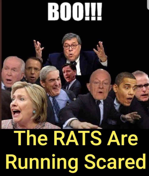 boo barr rats are running scared hillary brennan clapper comey mueller
