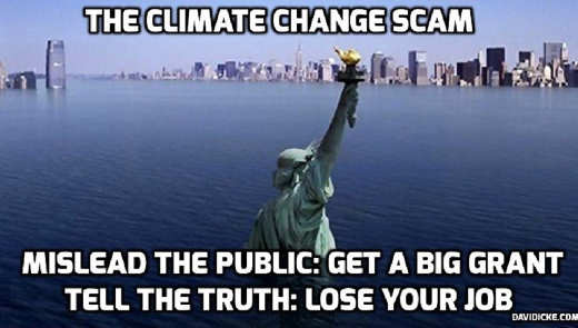 climate change scam mislead the public get big grant tell the truth lose your job