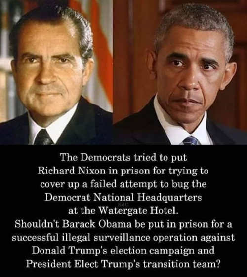 democrats wanted prison for nixon for trying to wiretap but obama did same thing