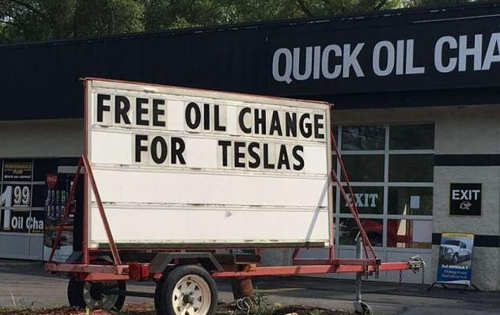 free oil changes for teslas