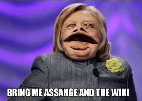 hillary clinton bring me assange and the wiki jabba hut