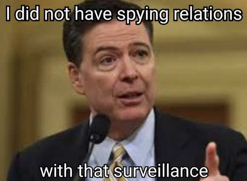 james comey i did not have spying relations with that surveillance