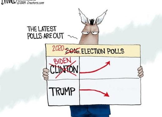 media polls clinton up trump down crossout biden up