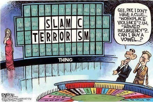 obama wheel of fortune islamic terror workplace violence