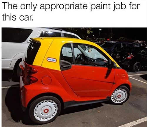 only appropriate paint job for smart car fisher price