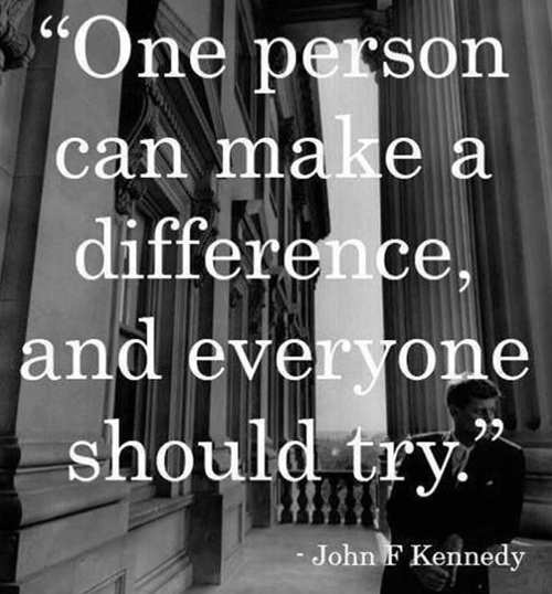 quote one person can make a difference john kennedy