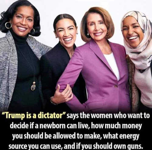 trump is dictator say aoc pelos omar what energy you can use guns newborn lives allowed to make