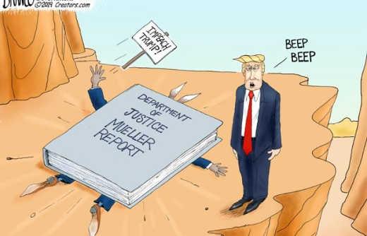 trump road running impeach trump mueller justice report