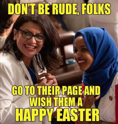 wish muslim congresswomen happy easter