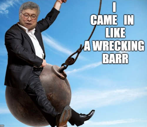 barr came in like a wrecking ball