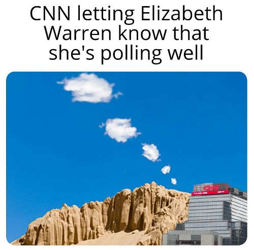 cnn letting elizabeth warren know she is polling well smoke signals
