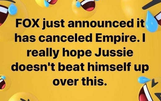 empire just cancelled hope jussie smollett doesnt beat himself about it