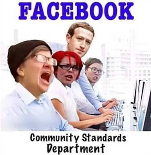 facebook community standards department liberals whining