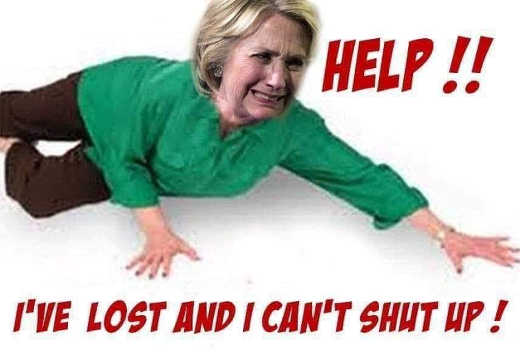 hillary clinton help ive lost and i cant shut up