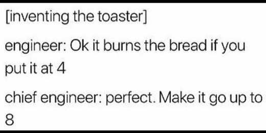it burns bread if put it at 4 perfect make it go to 8