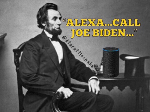 lincoln alexa call joe biden