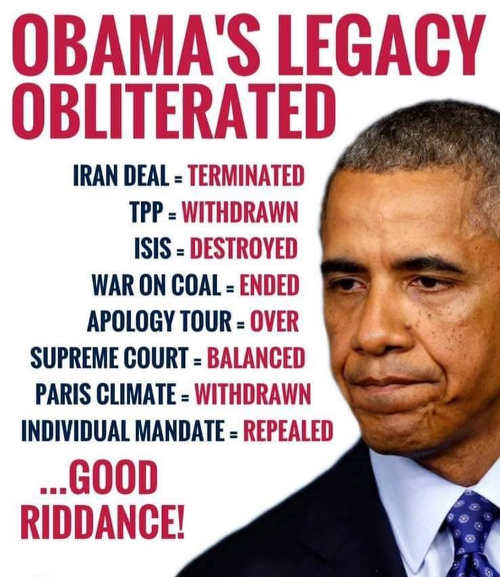 obamas legacy obliterated iran deal tpp isis war on coal apology tour paris accord