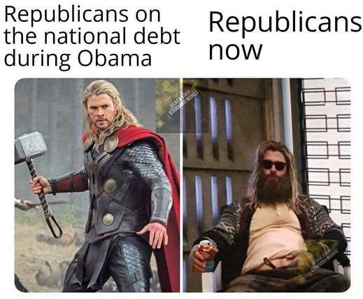 republicans on national debt under obama republicans now