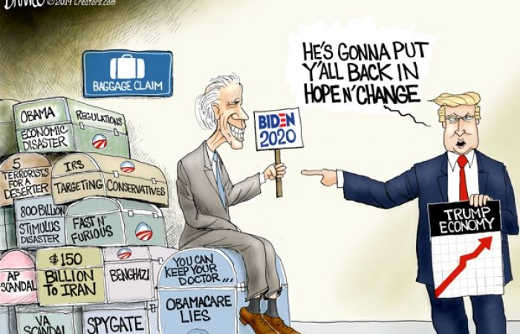 trump biden will put back in hope and change scandals vs trump economy