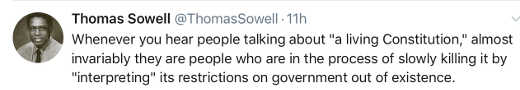tweet thomas sowell living constitution