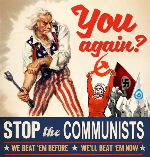 you again stop the communists nazis soviets democrats