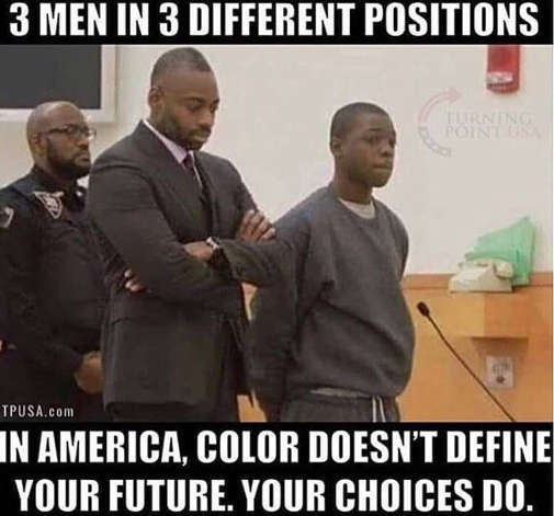 3 black men different positions in america race doesnt define lawyer cop criminal