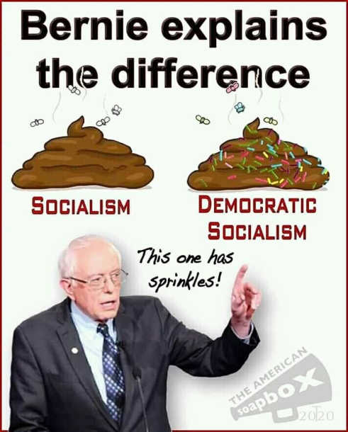 bernie explains difference socialism democratic this one has sprinkles on it