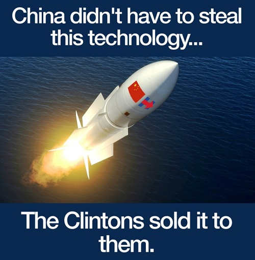 china didnt have to steal this technology clintons sold it to them