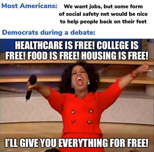 democrats health care is free oprah give you everything for free