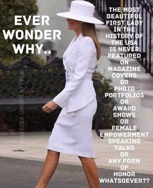 ever wonder why most beautiful first lady ever melania trump never featured media anywhere