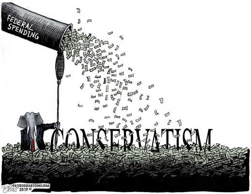 federal spending burying conservatives