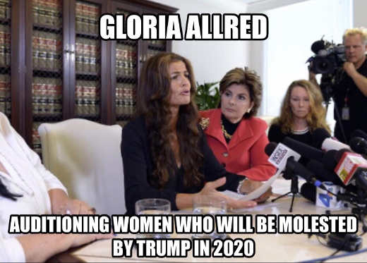 gloria allred auditioning women who will be molested by trump in 2020