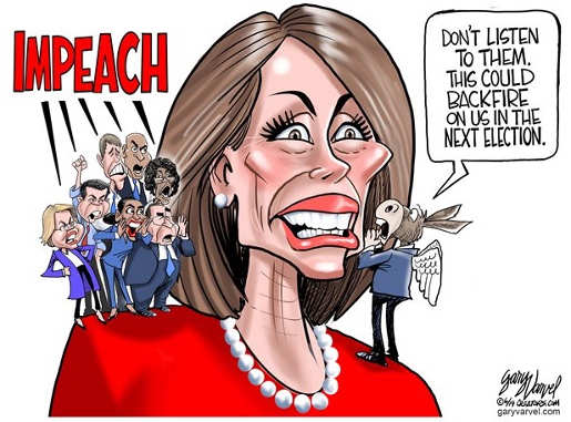 impeach yelling in ear of nancy pelose dont listen to them hurt in next election