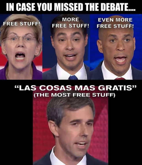 in case you missed democratic debate free stuff warren castro booker orouke