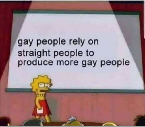 lisa simpson gay people rely on straight people to produce more gay people