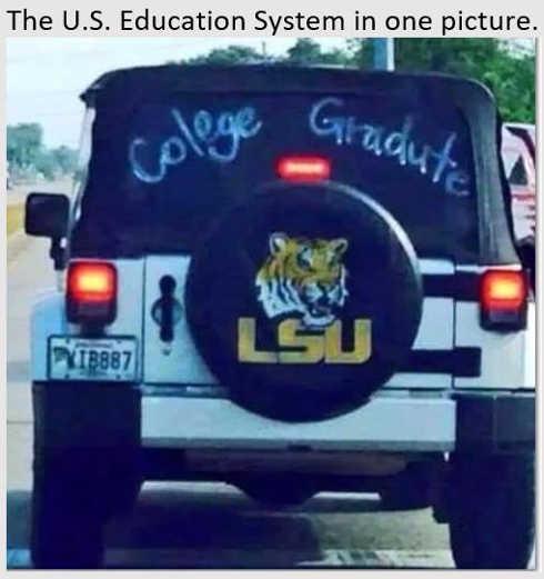 lsu college graduate misspelled us education system